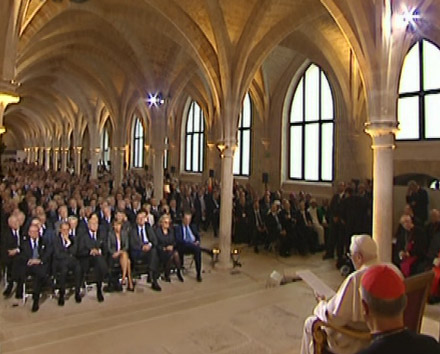 Benoît XVI au Collège des Bernardins