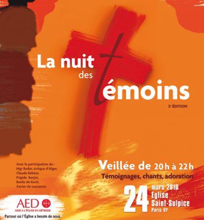 2ème Nuit des Témoins - Aide à l'Eglise en détresse - 2010