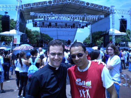 Photo avec un séminariste brésilien