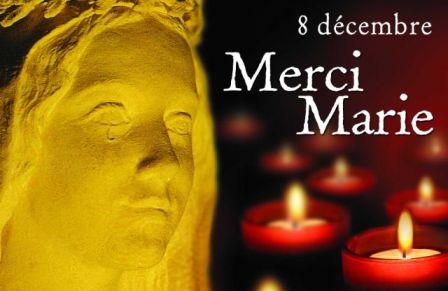 8 décembre - Lyon - Merci Marie