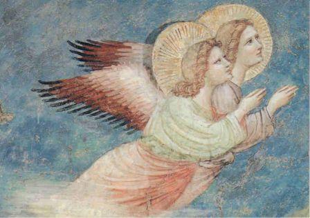 Ravenne Sainte Chiara - La Nativité - détail des anges