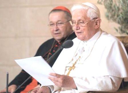 Discours de Benoît XVI au Collège des Bernardins