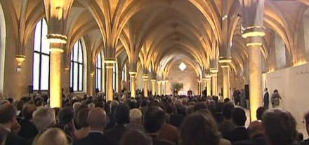 Benoît XVI s'adressant au monde de la culture au collèges des Bernardins à Paris