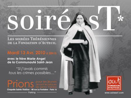 Soirée T - Sainte Thérèse - Fondation d'Auteuil
