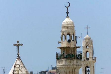 Minaret et clocher coexistants à Bethlehem