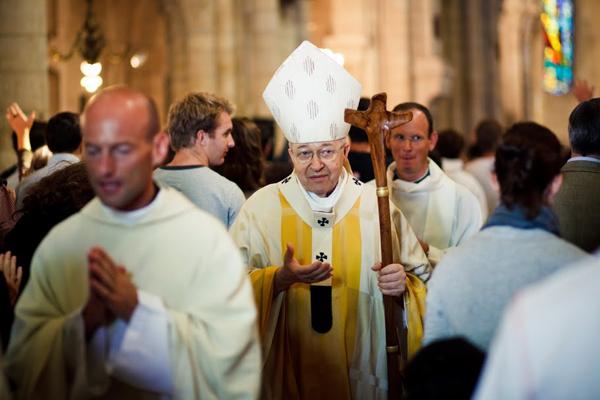 Messe de clôture du festival Anuncio à Montmartre, présidée par le cardinal Vingt-Trois, le 28 août 2010